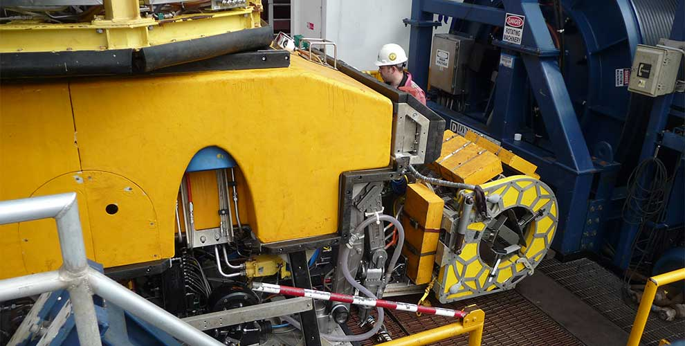 Deepwater Flexible Riser Scanning at 500m
